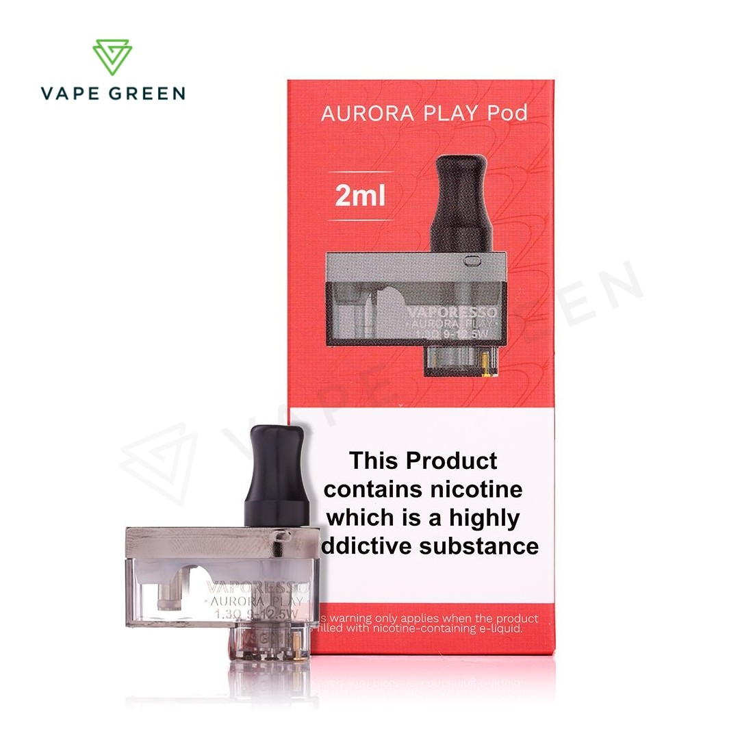 Vaporesso Aurora Play Replacement Pods 1.4ohm CCELL (2 Pack)