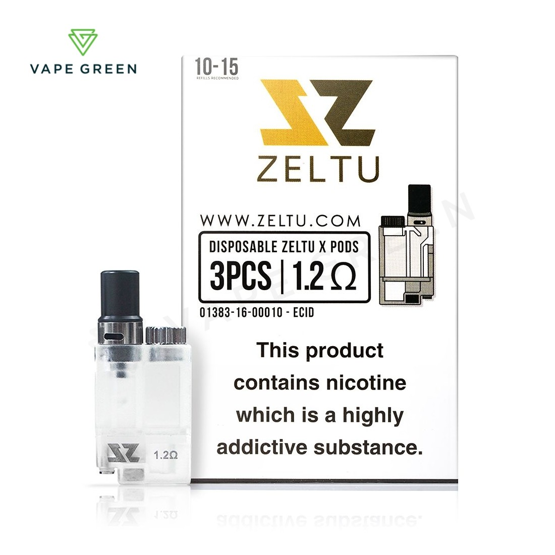Zeltu X Replacement Pod - Pack of 3