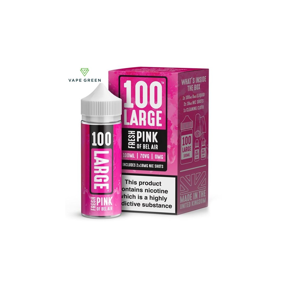 Fresh Pink Of Bel Air E-Liquid by 100 Large