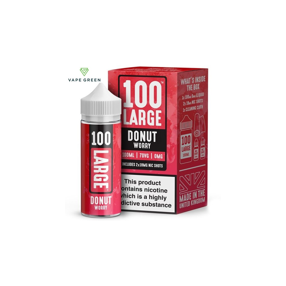 Donut Worry E-Liquid by 100 Large