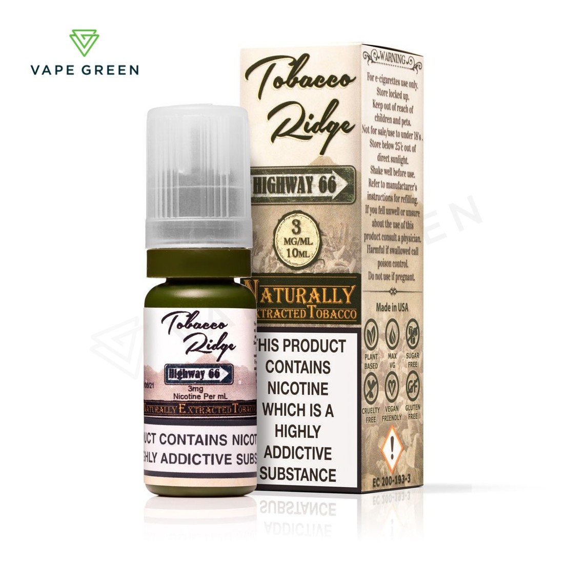 Highway 66 Natural Tobacco E-liquid by Kind Juice