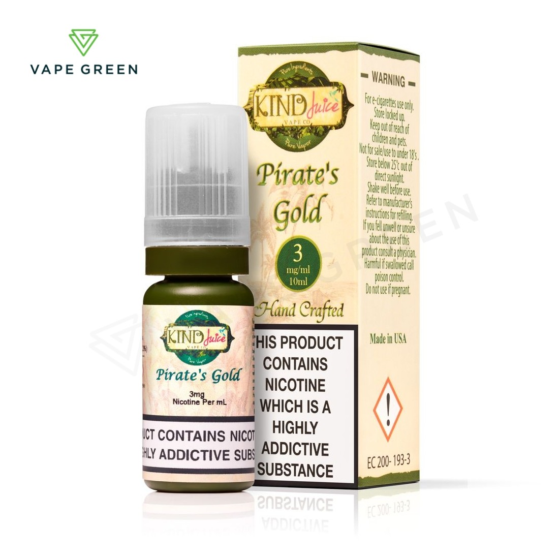 Pirate's Gold E-Liquid by Kind Juice