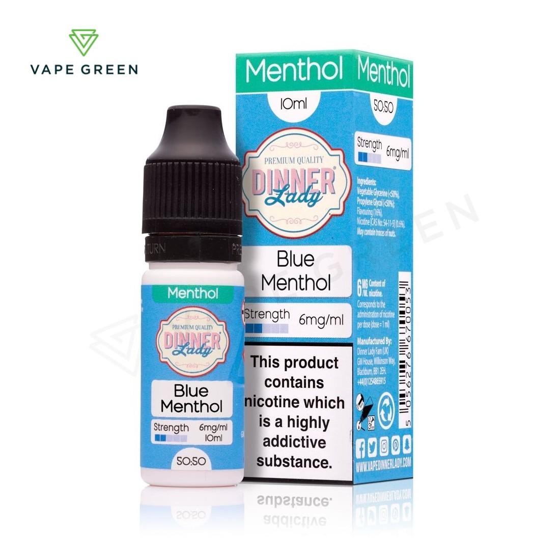 Blue Menthol E-Liquid by Dinner Lady Menthol 50/50