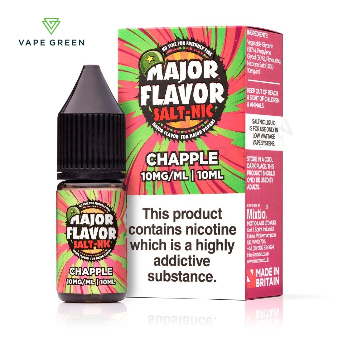 Chapple E-Liquid by Major Flavour Nic Salt