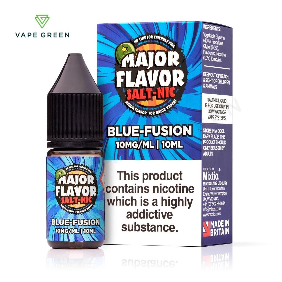 Blue Fusion E-Liquid by Major Flavour Nic Salt