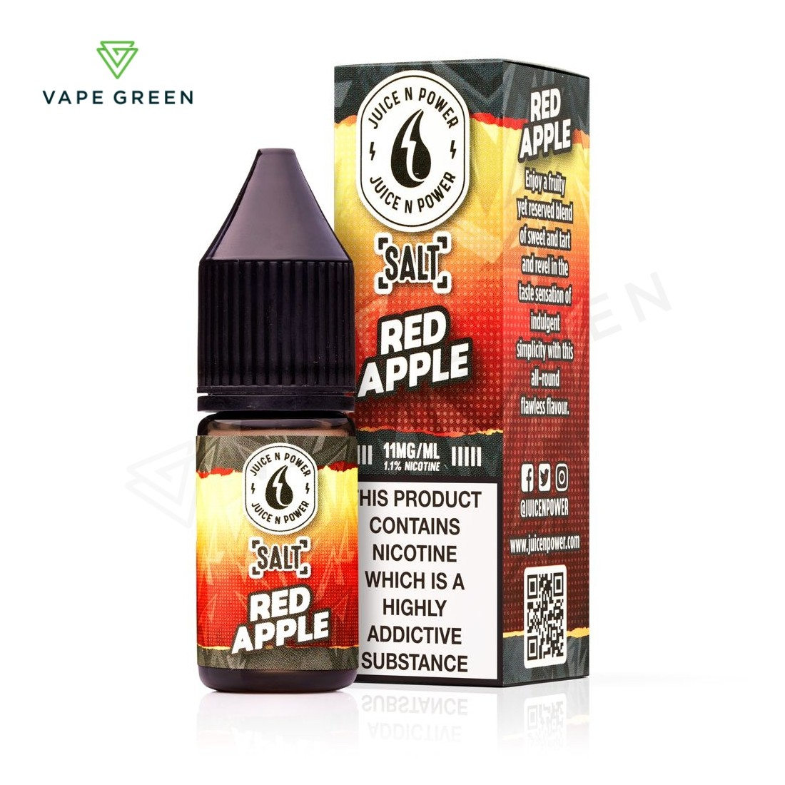 Red Apple E-Liquid by Juice N power Salt