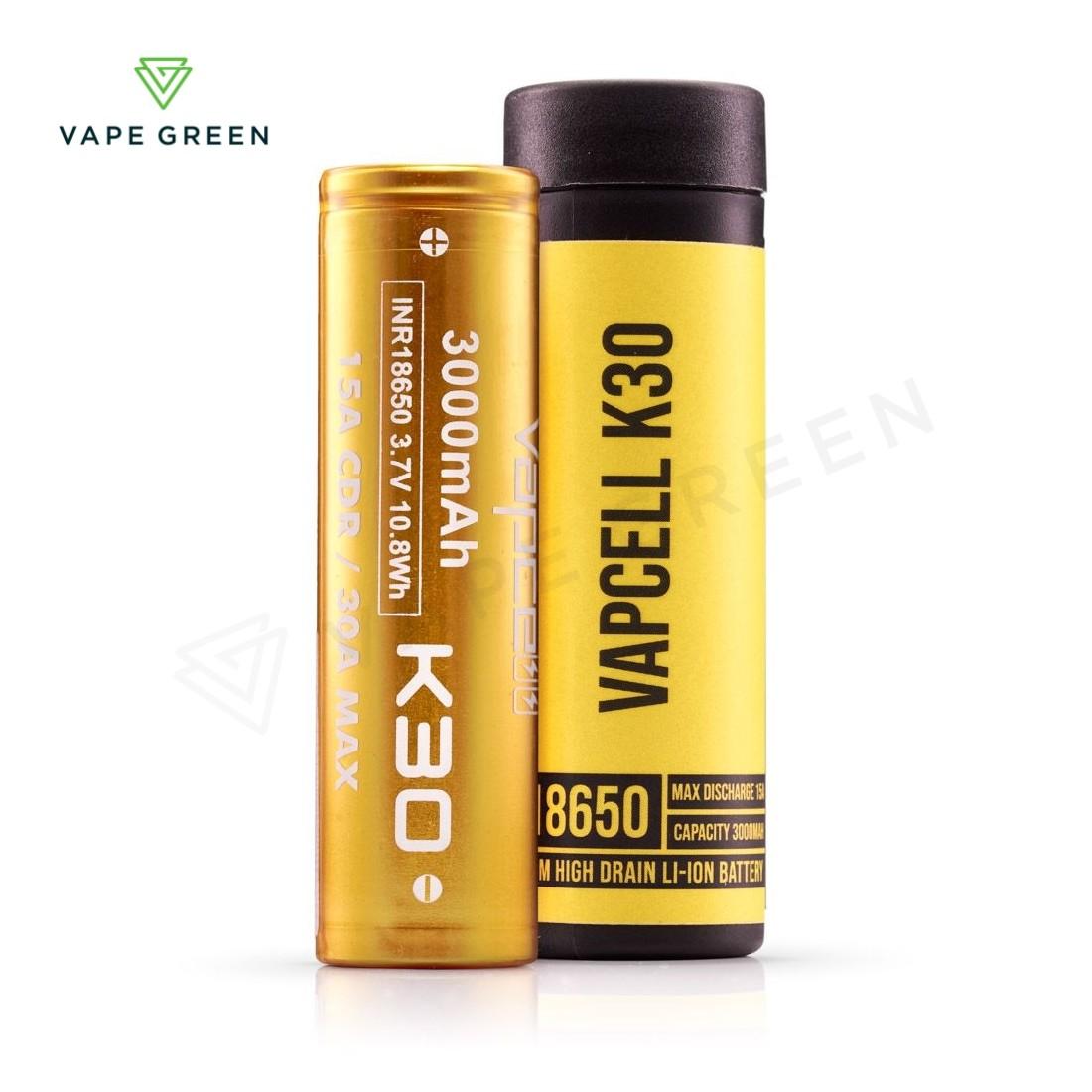 Vapcell K30 3000mAh (15A) 18650 Vape Battery