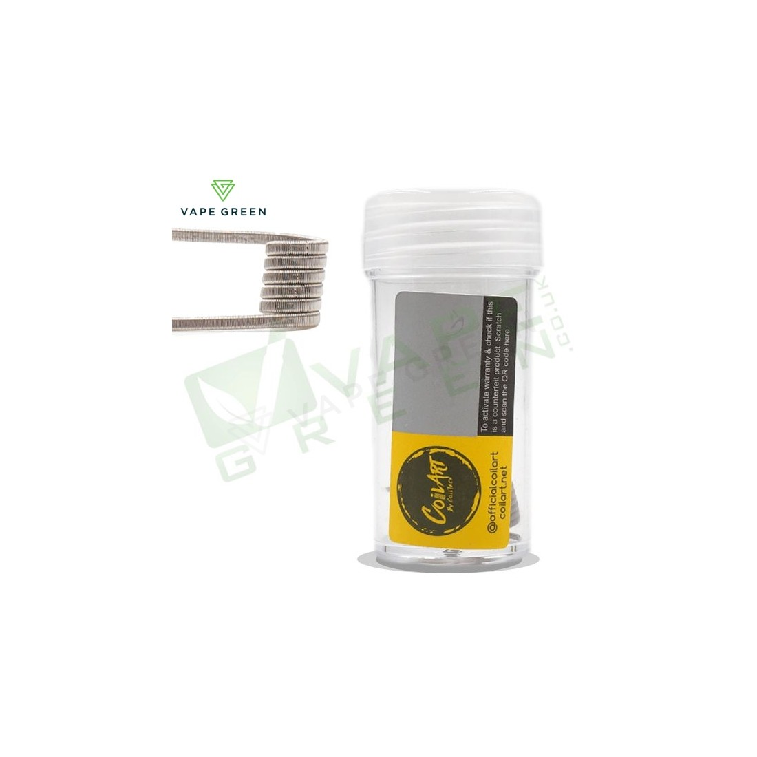 0.2ohm Handmade Fused Clapton Coils (26 x 2 Wrapped 38g) Ni80 by CoilArt