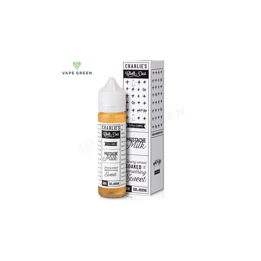 Mustache Milk E-liquid by Charlie's Chalk Dust 50ml Short Fill