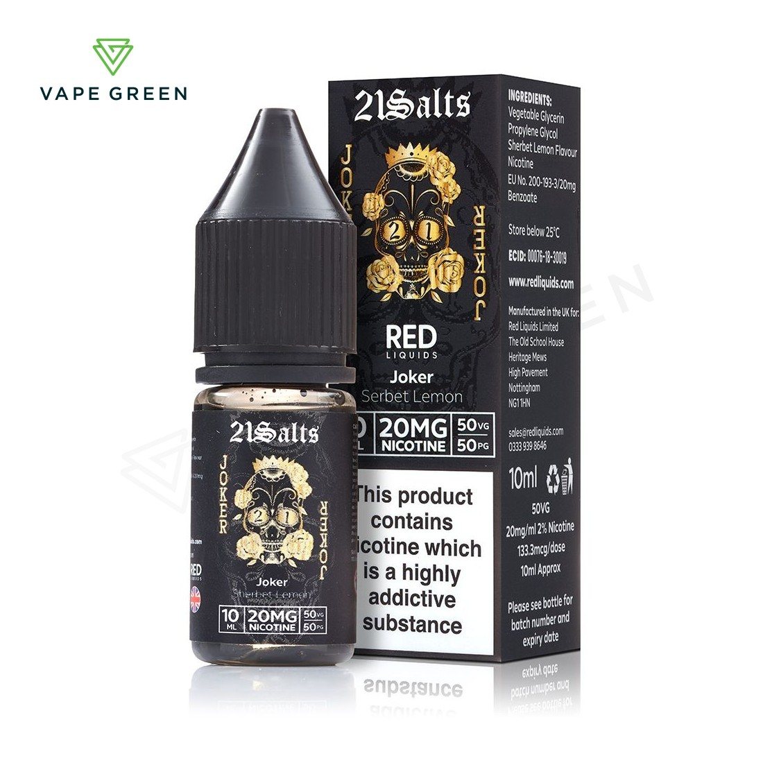 Joker Sherbet Lemon E-Liquid by 21 Salts