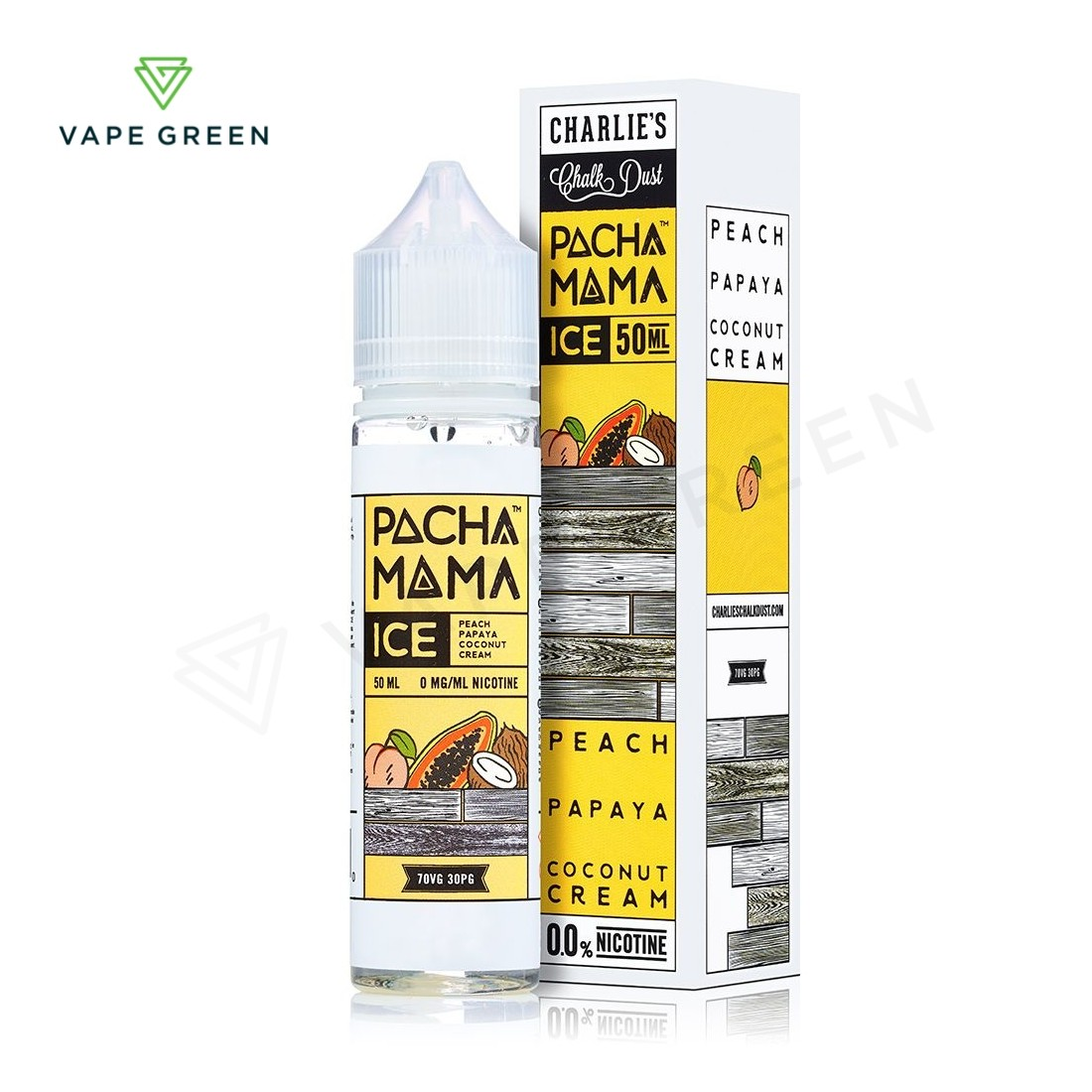 Peach, Papaya and Coconut Cream ICE E-Liquid by Pacha Mama 50ml