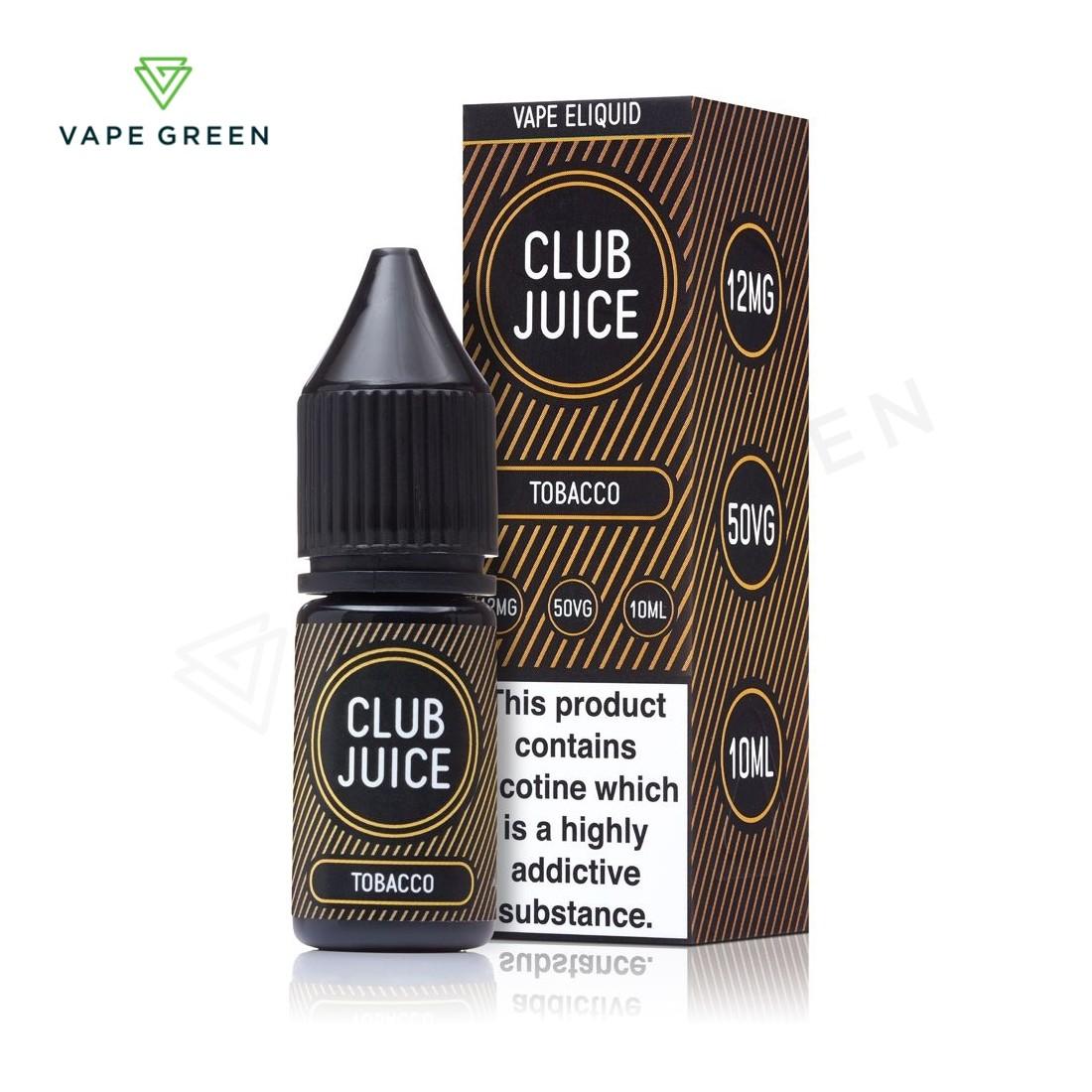 Tobacco E-Liquid by Club Juice 50/50