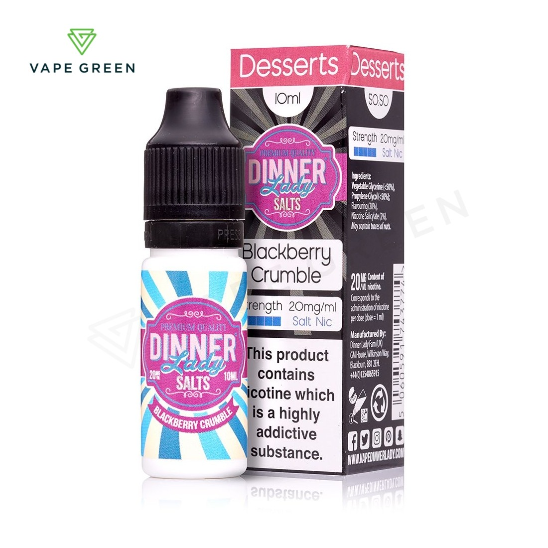 Blackberry Crumble eLiquid by Dinner Lady Salts
