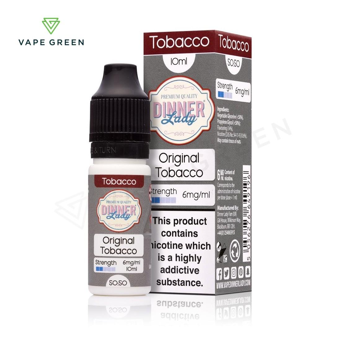 Original Tobacco E-Liquid by Dinner Lady 50/50