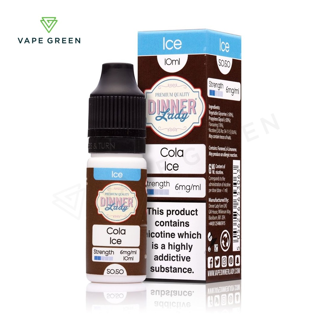Cola Ice E-Liquid by Dinner Lady Ice 50/50