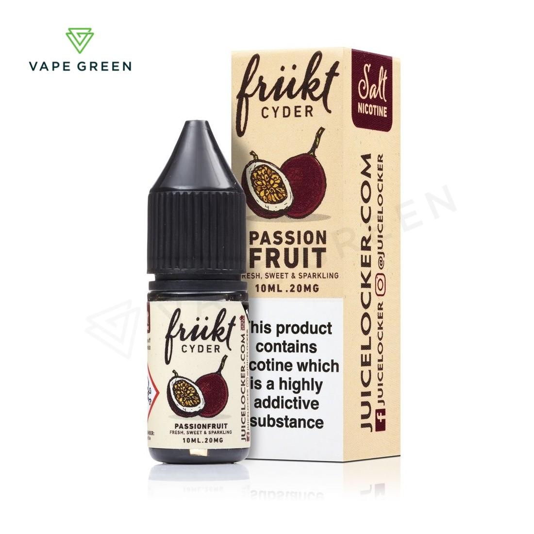 Passionfruit E-Liquid by Frukt Cider Nic Salt
