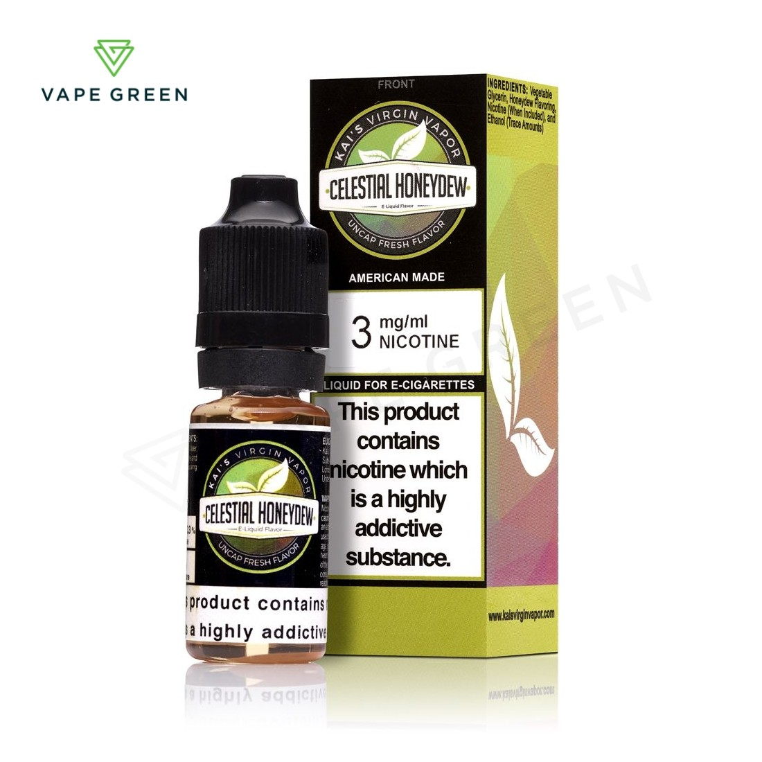 Celestial Honey dew E-liquid by Kai's Virgin Vapor
