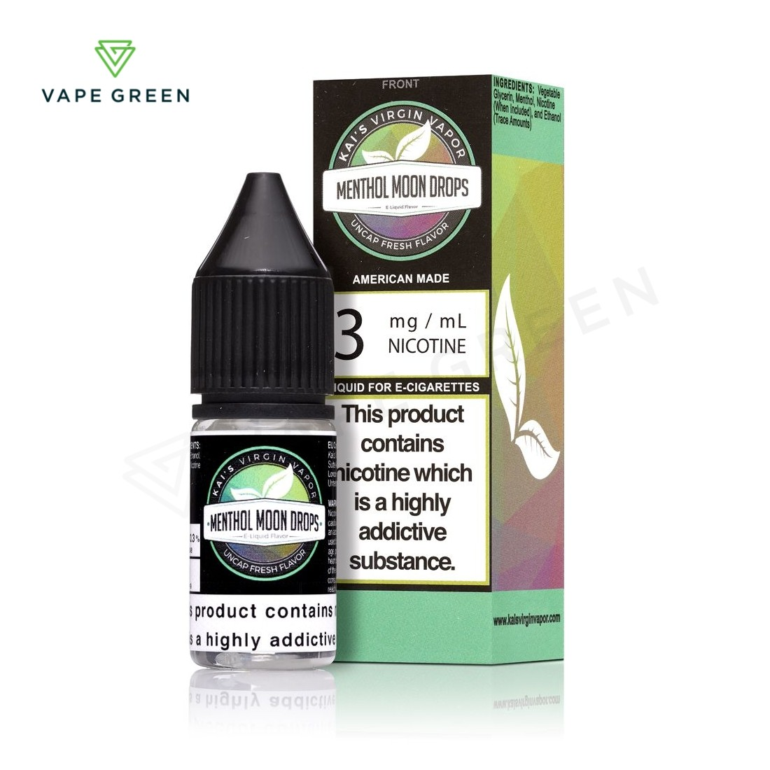 Menthol Moon Drops E-liquid by Kai's Virgin Vapor