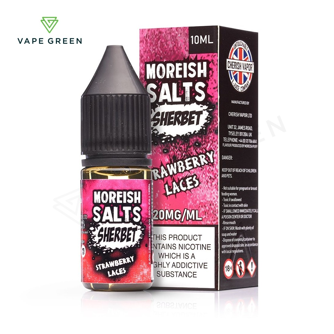 Strawberry Laces Sherbet E-Liquid by Moreish Salts