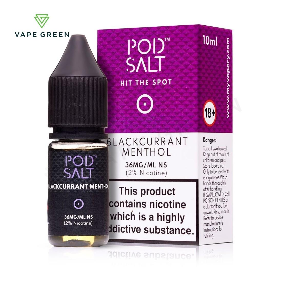 Blackcurrant Menthol eLiquid by Pod Salt