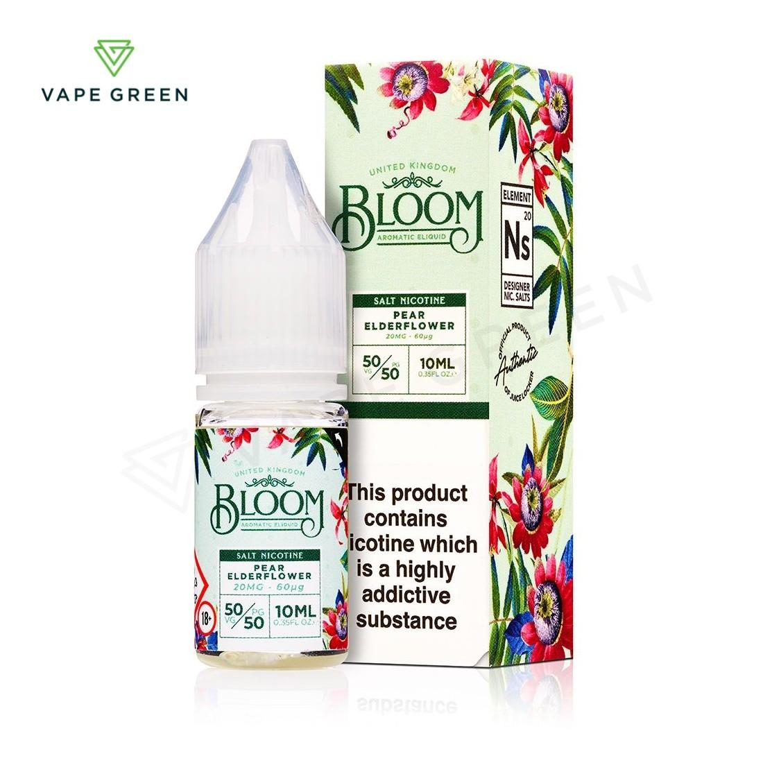 Pear Elderflower E-Liquid by Bloom Salt Nicotine