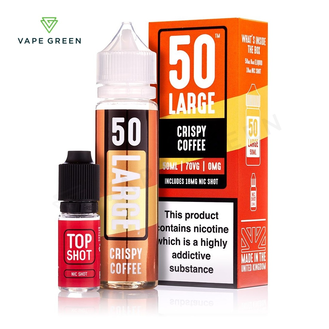 Crispy Coffee E-Liquid by 50 Large - 50ml