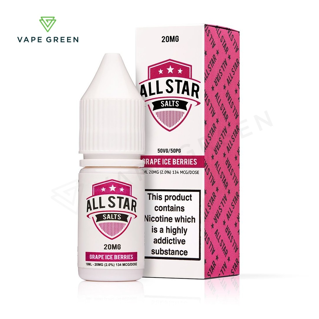 Grape Ice Berries Nic Salt eLiquid by All Star