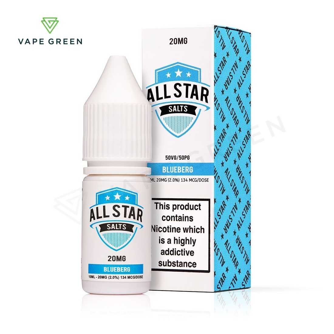 Blueberg Nic Salt eLiquid by All Star