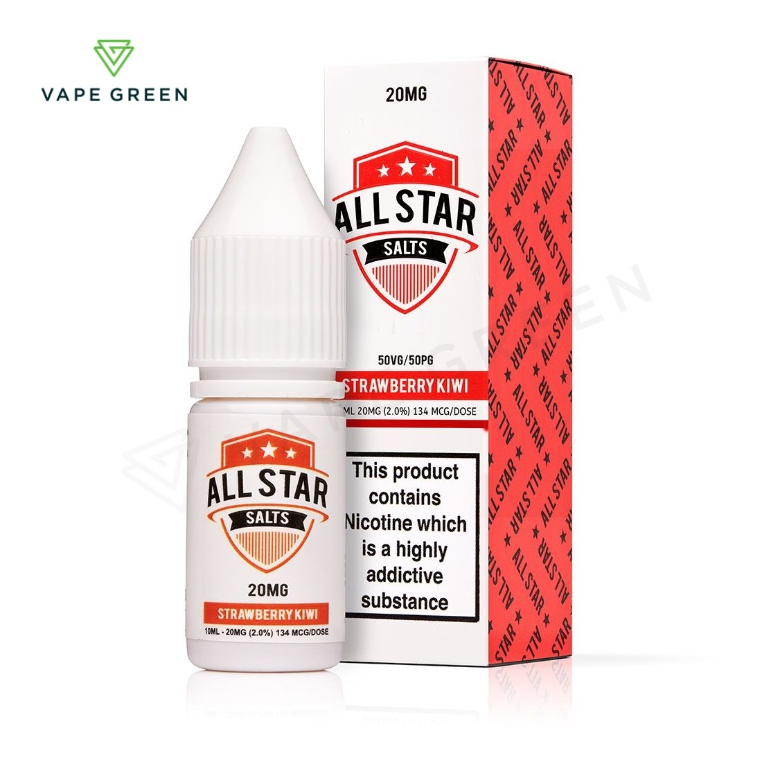 Strawberry Kiwi Nic Salt eLiquid by All Star