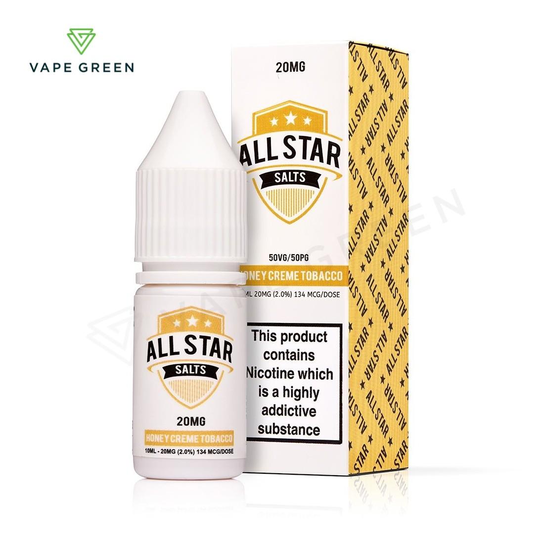 Honey Creme Tobacco Nic Salt eLiquid by All Star