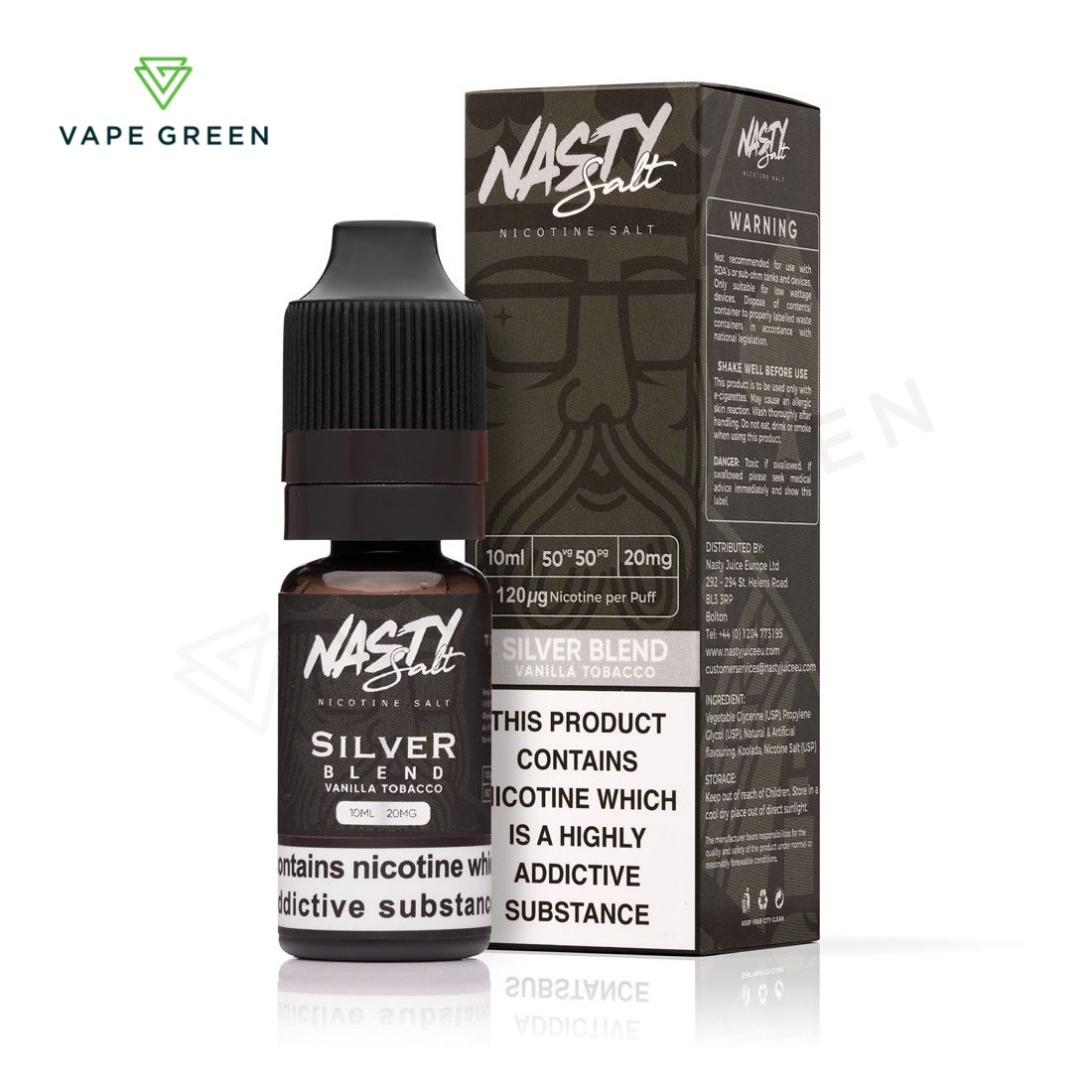 Silver Blend eLiquid by Nasty Salt
