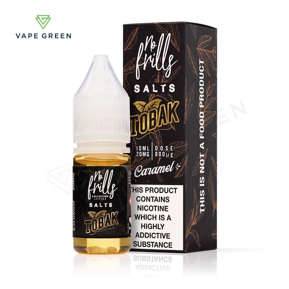 Caramel Tobacco E-Liquid by No Frills Tobak Salts