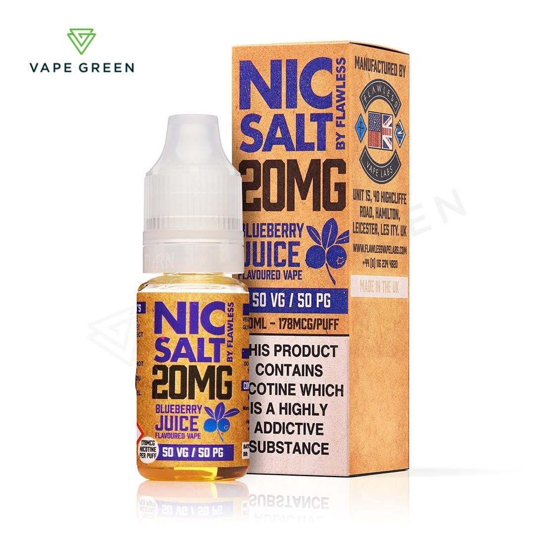 Blueberry Juice eLiquid by Flawless Nic Salt