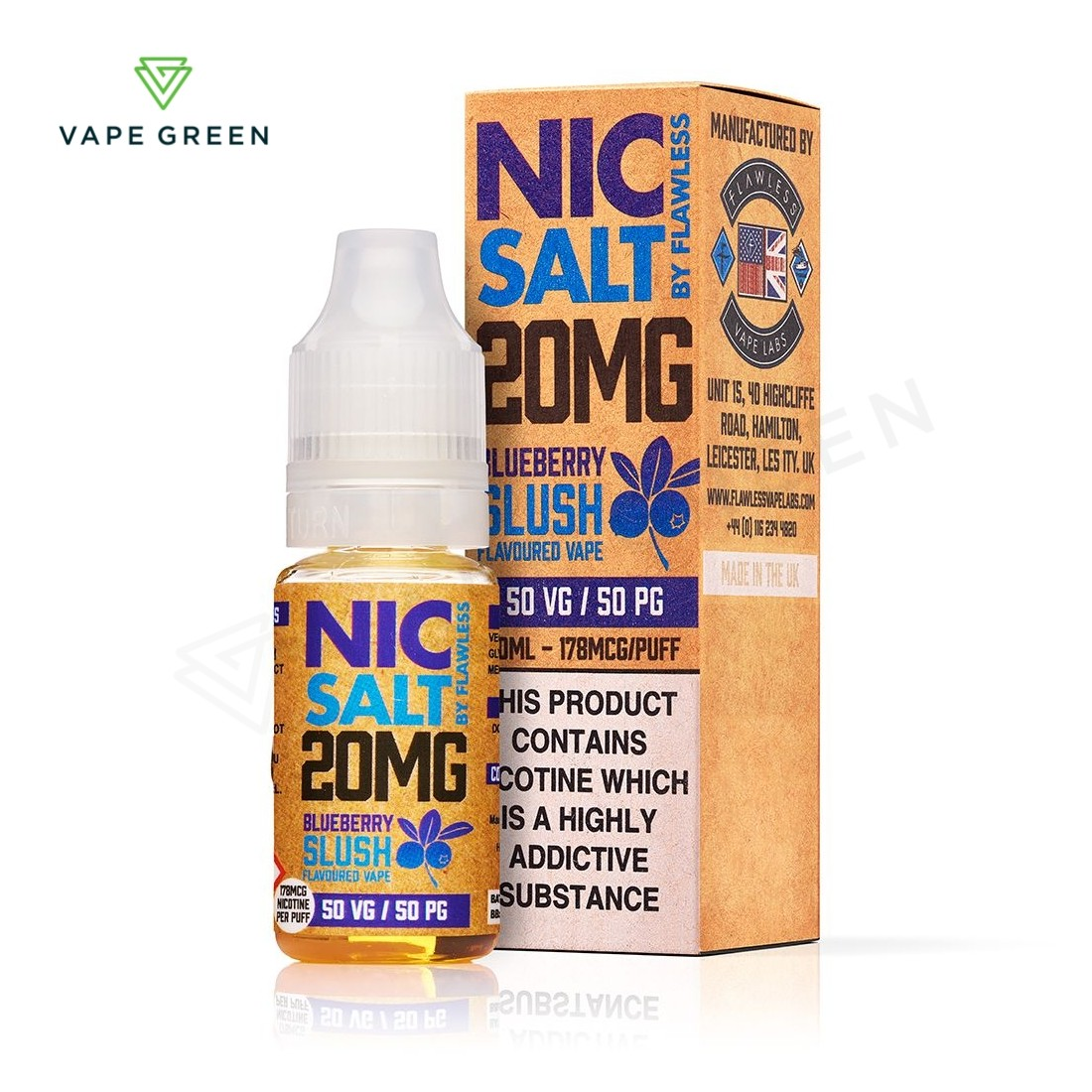 Bluberry Slush eLiquid by Flawless Nic Salt - 20mg