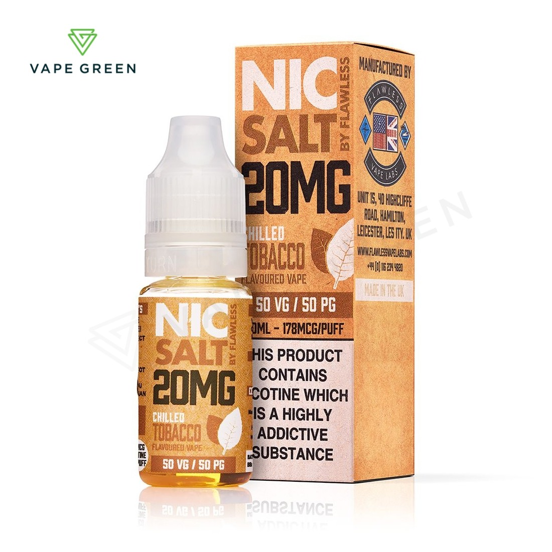 Chilled Tobacco eLiquid by Flawless Nic Salt