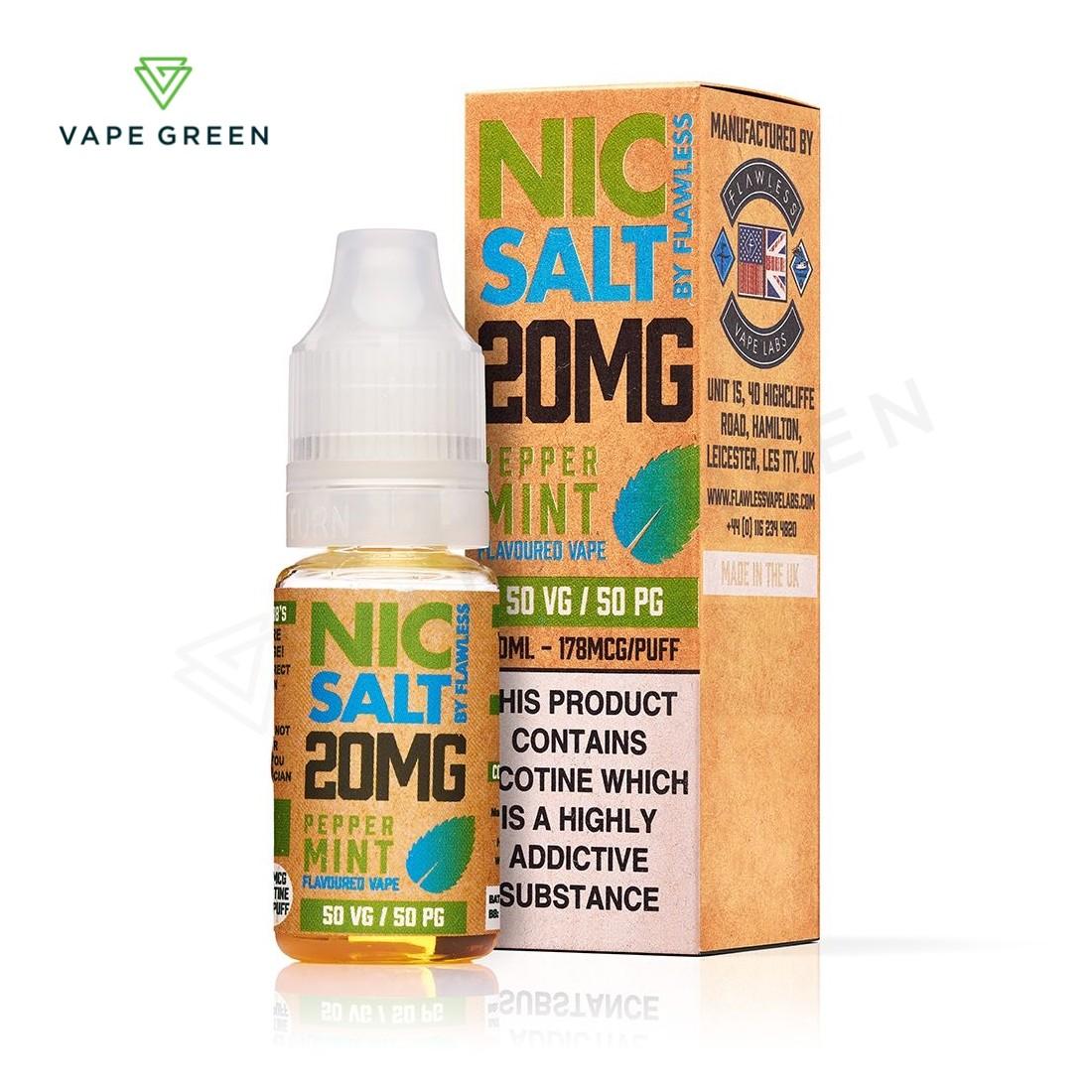Peppermint eLiquid by Flawless Nic Salt