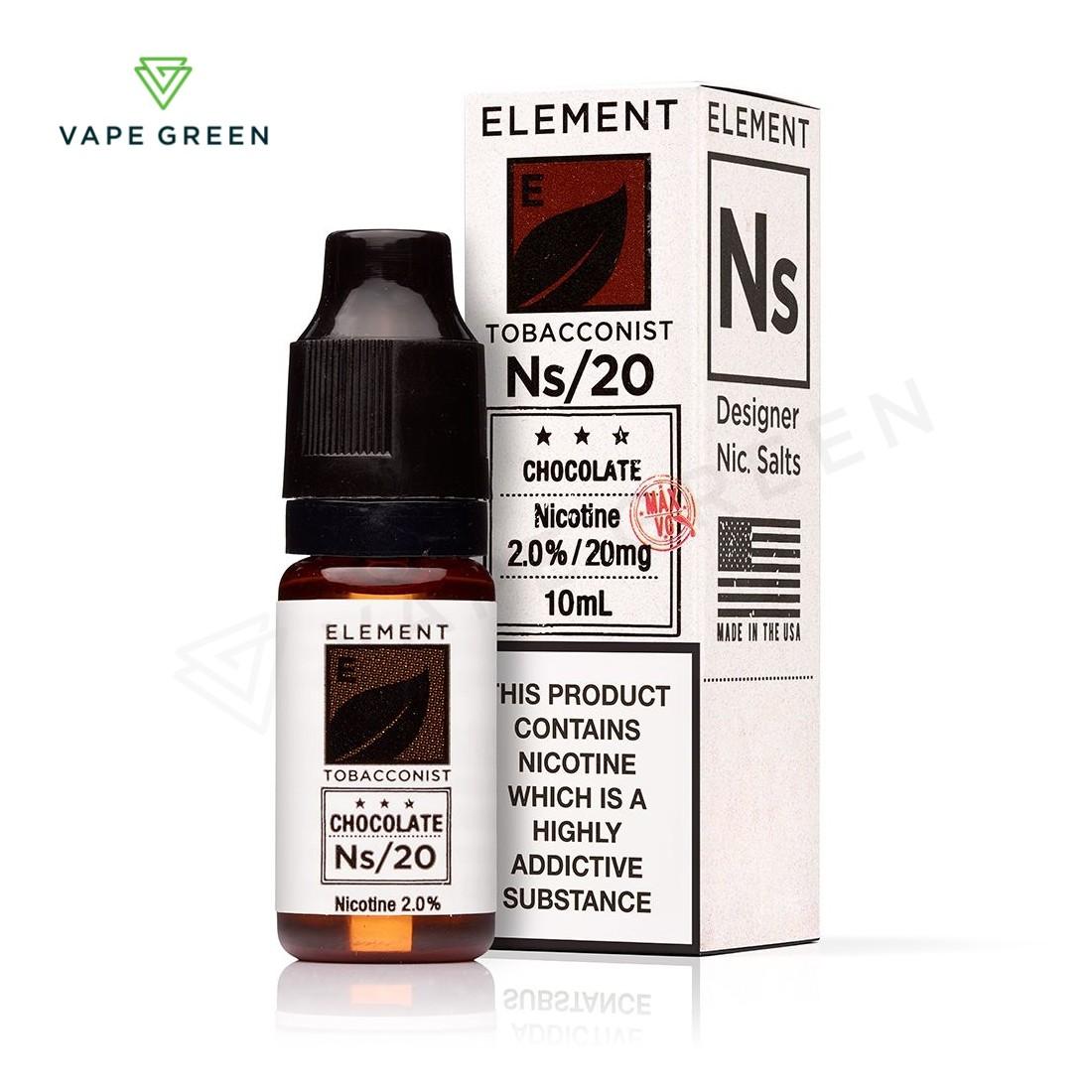 Chocolate Tobacco E-liquid by Element NS10 & NS20
