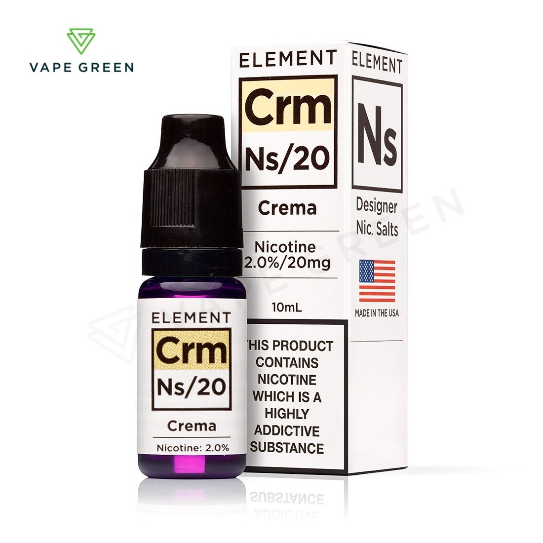 Crema E-liquid by Element NS10 & NS20