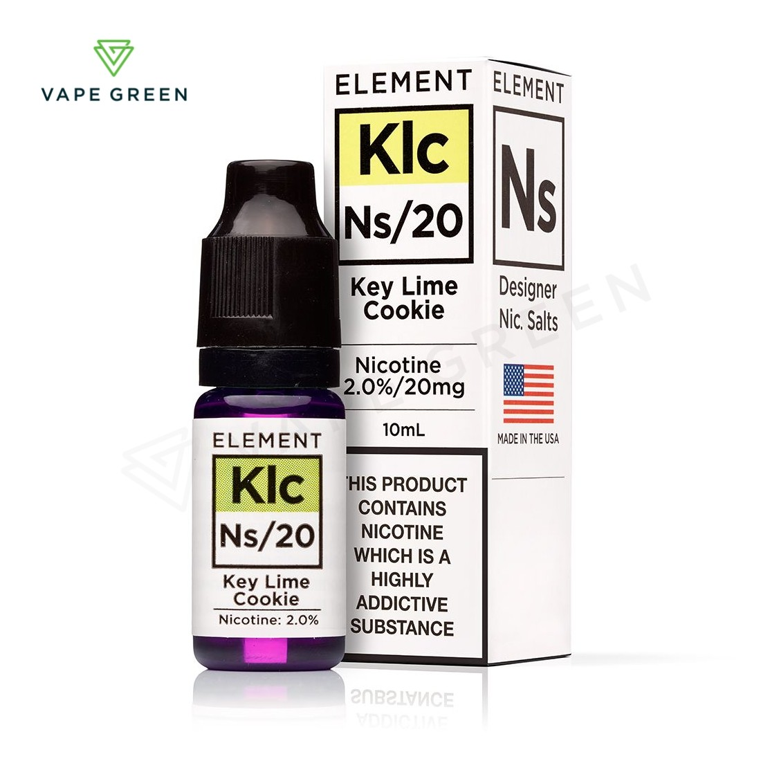 Key Lime Cookie E-liquid by Element NS10 & NS20