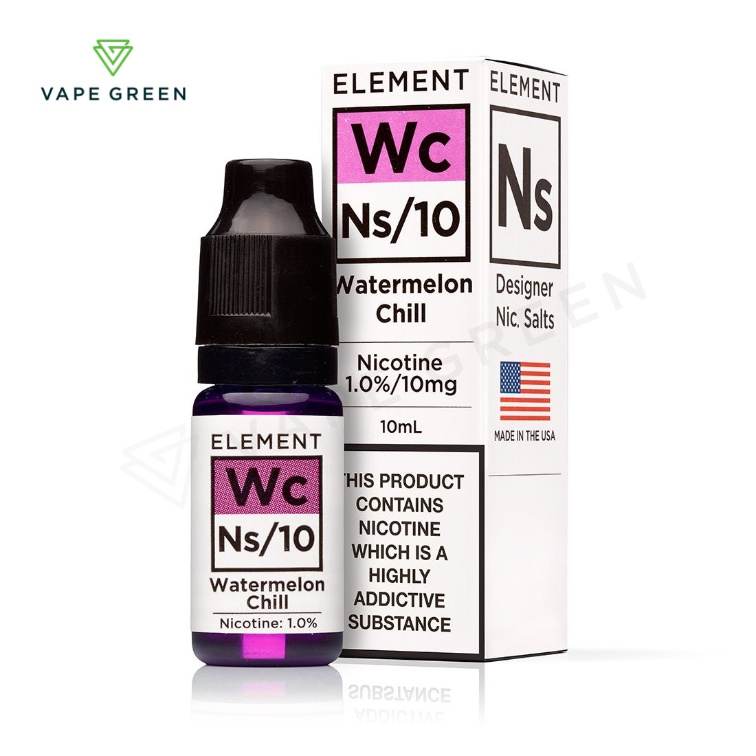 Watermelon Chill E-liquid by Element NS10 & NS20