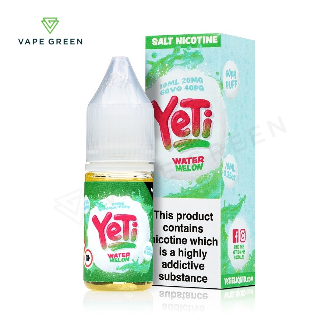 Watermelon E-Liquid by Yeti Salt Nicotine