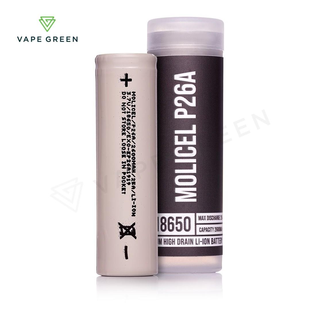 Molicel P26A 18650 2600mAh (25A) Vape Battery