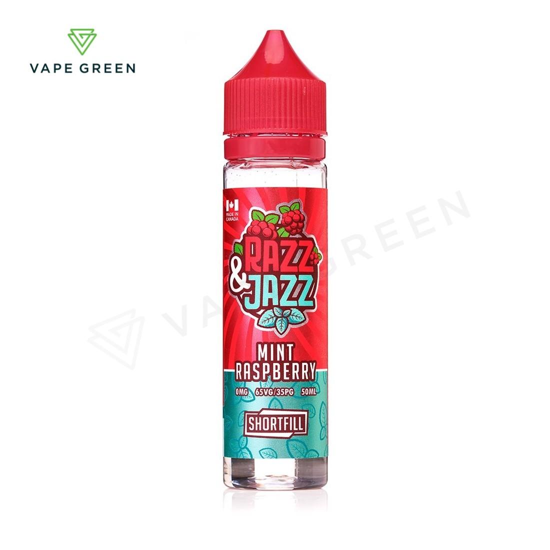 Mint Raspberry Shortfill E-Liquid by Razz & Jazz 50ml