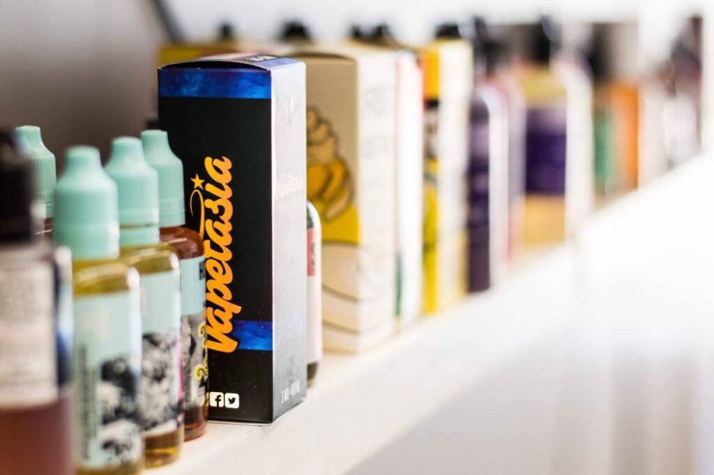 bottles of e-liquids