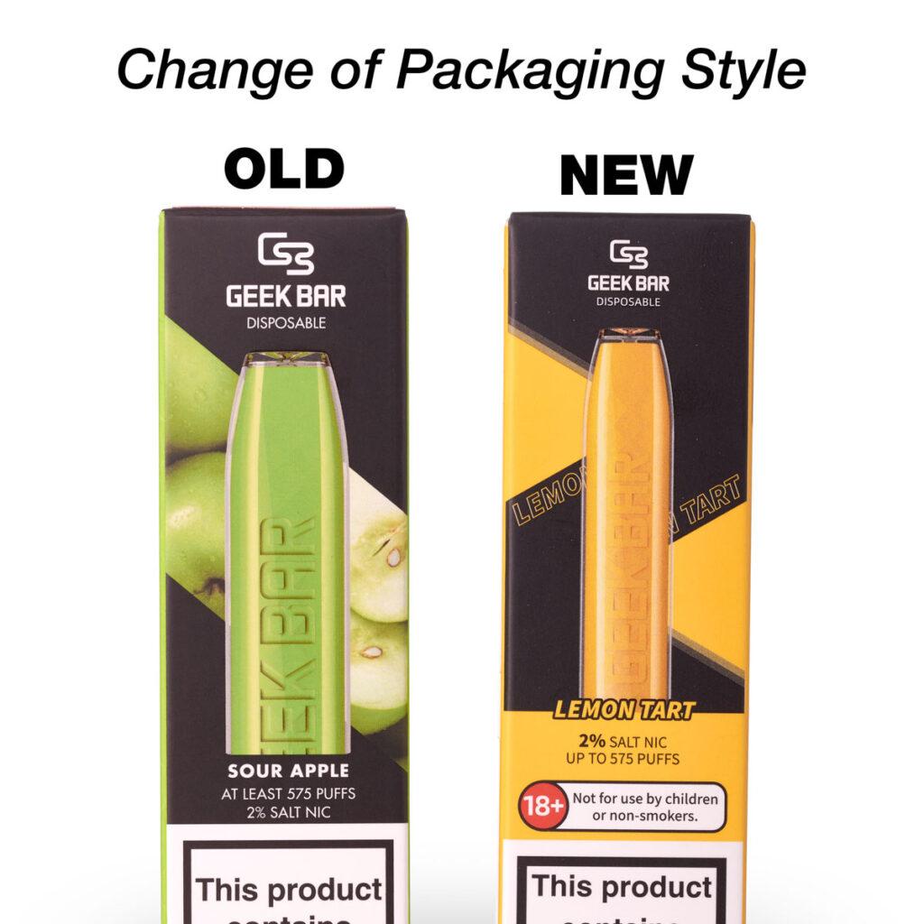 Geek Bar New packaging