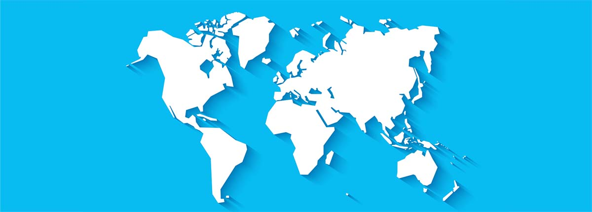Simple illustration of the world map
