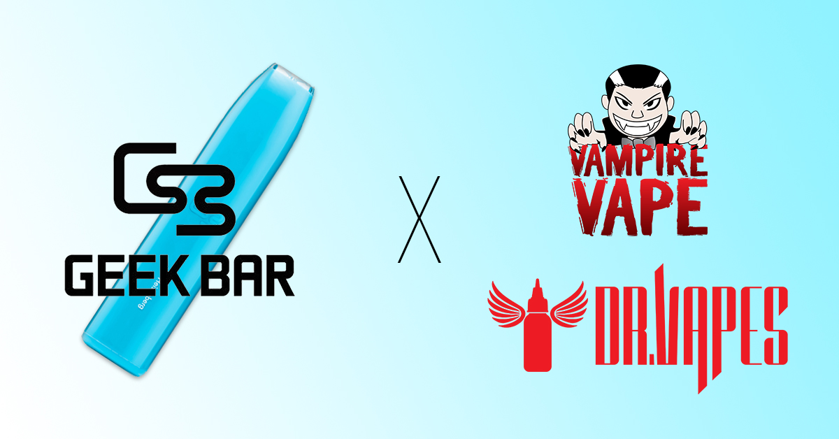 Geek Bar's EPIC Collaboration with 2 Premium UK E-Liquid Manufacturers